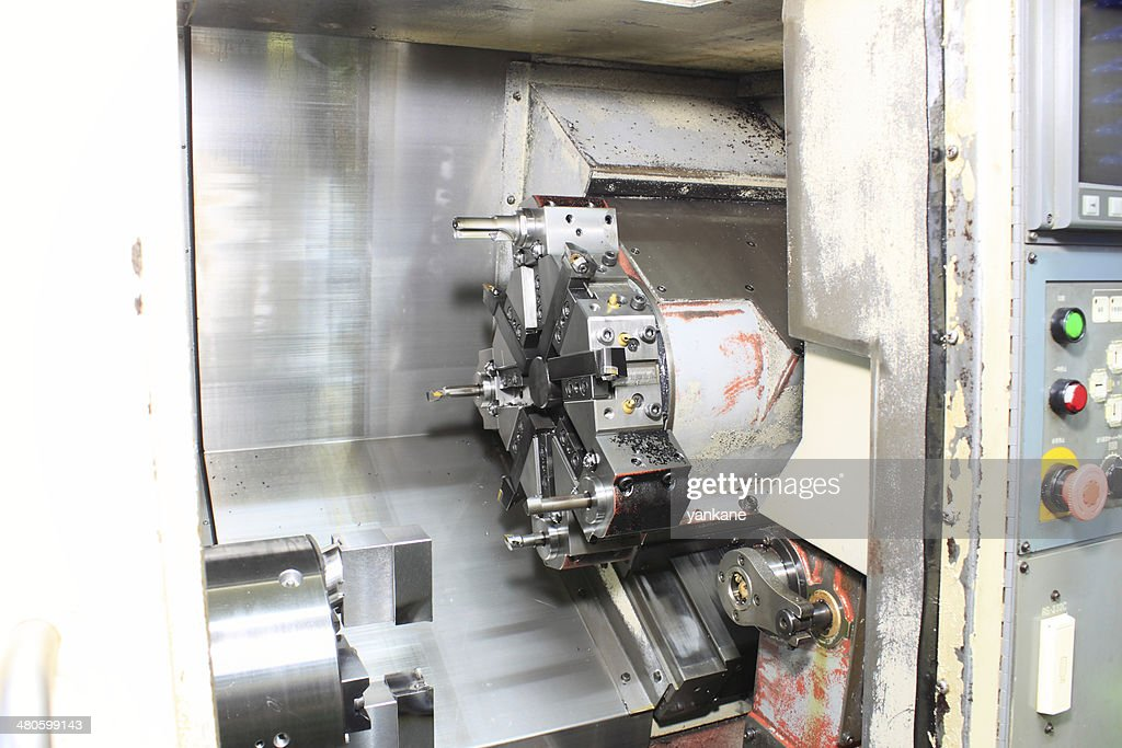 cnc machine tools in the work : Stock Photo