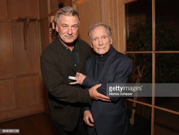 Co Chair of the Hamptons International Film Festival Alec Baldwin and honoree Dick Cavett pose for a photo together during the Opening Night Party...