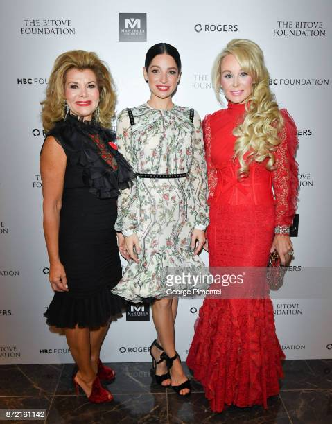 Co Chair Vonna Bitove, Actress and event MC Anna Hopkins and Co Chair Suzanne Rogers attend the HBC Foundation presentation of Haute Affair in...