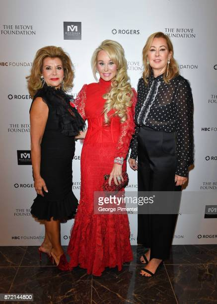 Co Chair Vonna Bitove, Co Chair Suzanne Rogers and President of Hudson's Bay Company, Alison Coville attend the HBC Foundation presentation of Haute...