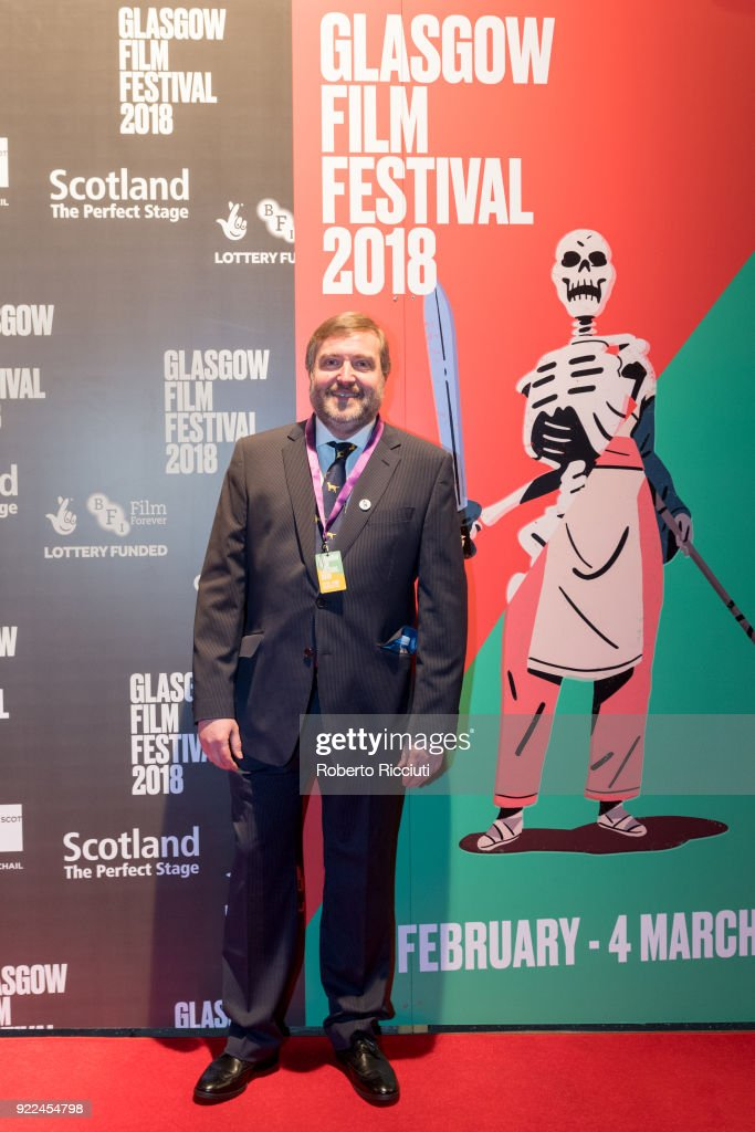 GFF co director Allan Hunter attends the UK premiere of 'Isle of Dogs' and opening gala of the 14th Glasgow Film Festival at Glasgow Film Theatre on February 21, 2018 in Glasgow, Scotland.