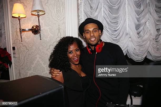 CEO / Co Founder of Miss Jessie's Miko Branch and DJ Juss attend Miss Jesse's Holiday Party Honoring TiTi Branch at Miss Jessie's Salon on December 9...
