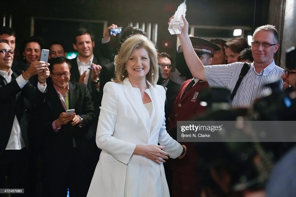 Arianna Huffington Lights The Empire State Building In Celebration Of The Huffington Post's 10 Year Anniversary : News Photo
