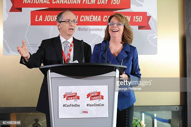 Co founders REEL Canada Jack Blum and Sharon Corder attend the REEL CANADA press conference announcing a major government support to host world's...
