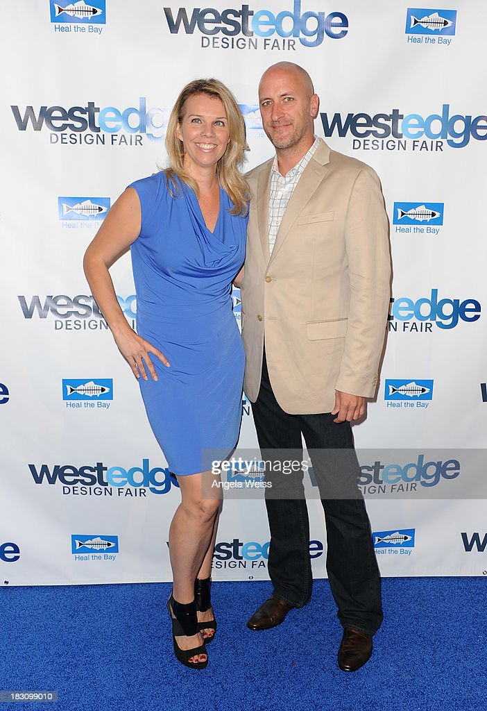 Co Founders WestEdge Designe Fair Megan Reilly and Troy Hanson attends the WestEdge Design Fair opening night benefiting Heal the Bay at Barker Hangar on October 3, 2013 in Santa Monica, California.