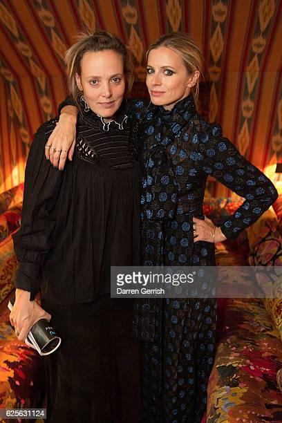 Co Host Bay Garnett and Model Laura Bailey attend THE OUTNET Bay Garnett Dinner on November 24 2016 in London England