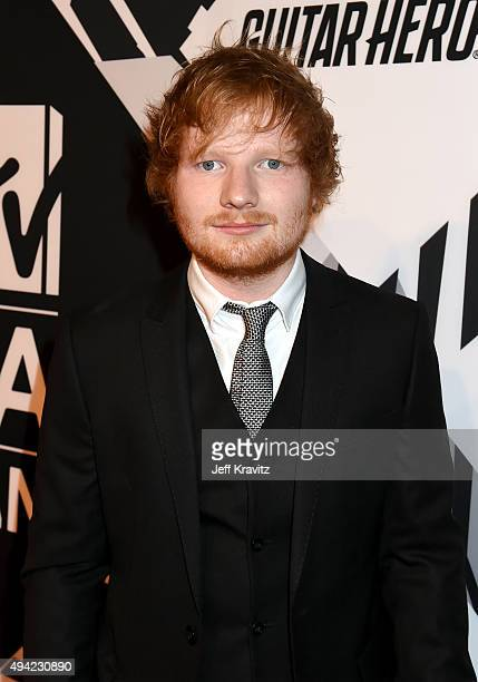 Co host Ed Sheeran attends the MTV EMA's 2015 at Mediolanum Forum on October 25 2015 in Milan Italy