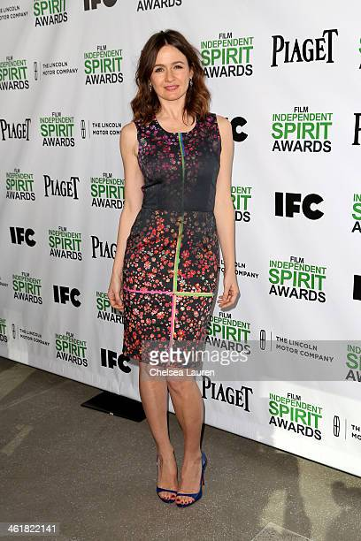 Co Host Emily Mortimer attends the 2014 Film Independent Spirit Awards Nominee Brunch at BOA Steakhouse on January 11 2014 in West Hollywood...