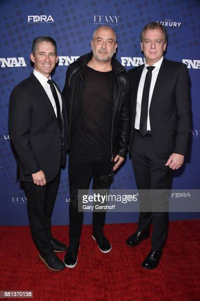 Co owner Concepts Tarek Hassan and coCEO's of Birkenstock David Kahan and Markus Bensberg attend the 31st FN Achievement Awards at IAC Headquarters...