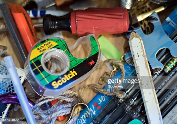 3M Co Scotch brand tape is arranged for a photograph in a drawer in Tiskilwa Illinois US on Tuesday Oct 21 2014 3M Co is scheduled to report...