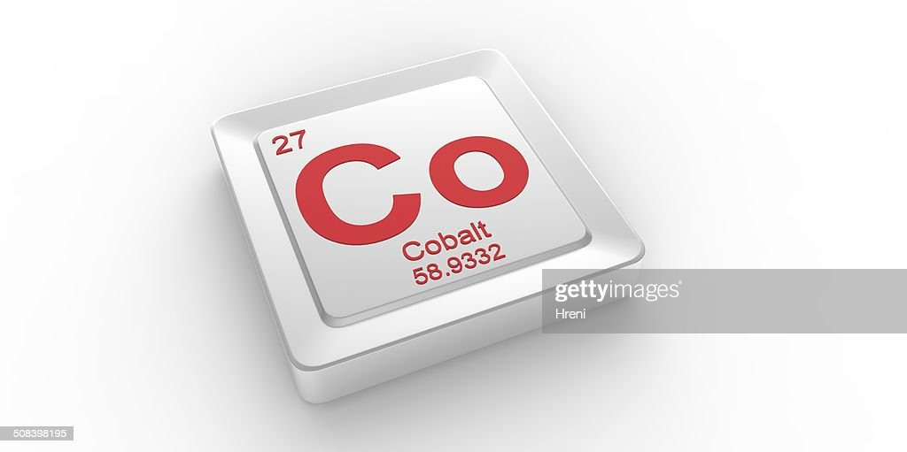 Co Symbol 27 Material For Cobalt Chemical Element Stock Photo