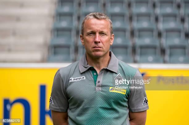 Co Trainer Frank Geideck pose during the team presentation of Borussia Moenchengladbach at BorussiaPark on July 28 2017 in Moenchengladbach Germany