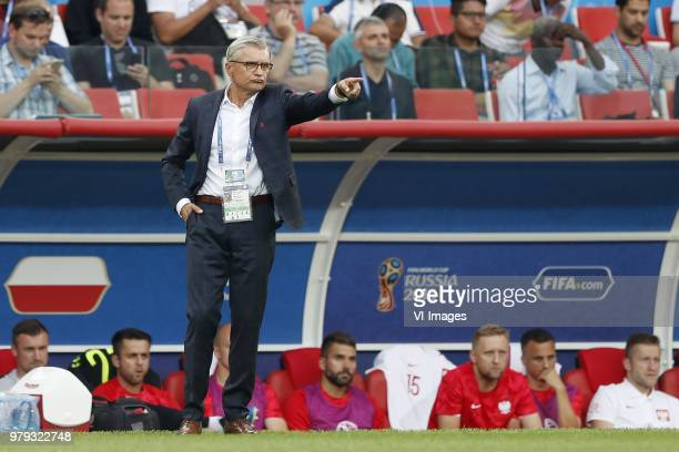 coach Adam Nawalka of Poland during the 2018 FIFA World Cup Russia group H match between Poland and Senegal at the Otkrytiye Arena on June 19 2018 in...