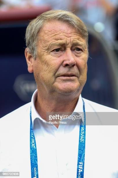 Coach Age Hareide during the game between Denmark and France valid for the third round of group C of the 2018 World Cup held at the Luzhniki Arena in...