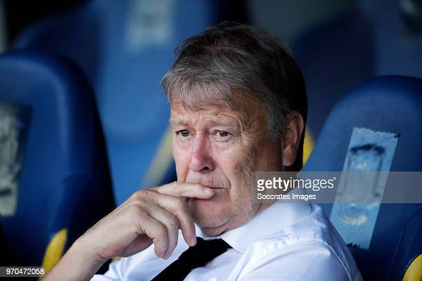 coach Age Hareide of Denmark during the International Friendly match between Denmark v Mexico at the Brondby Stadium on June 9 2018 in Copenhagen...