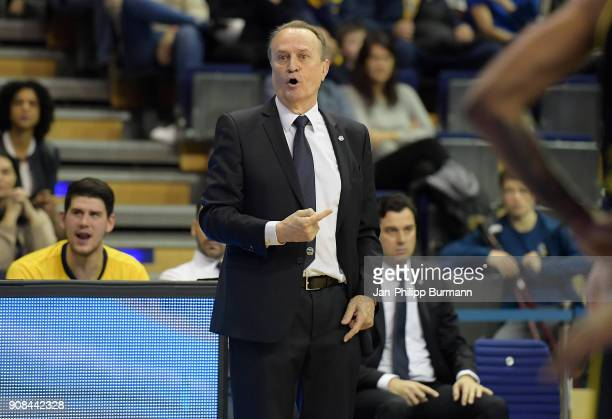 Coach Aito Garcia Reneses of Alba Berlin during the game between Alba Berlin and MHP Riesen Ludwigsburg on January 21 2018 in Berlin Germany