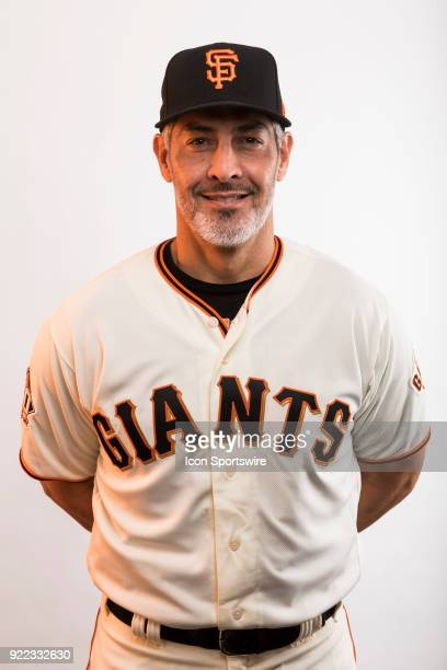 Coach Alan Zinter poses for a photo during the San Francisco Giants photo day on Tuesday Feb 20 2018 at Scottsdale Stadium in Scottsdale Ariz