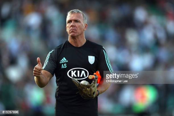 Coach Alec Stewart of Surrey during the NatWest T20 Blast match between Surrey and Kent at The Kia Oval on July 14 2017 in London England