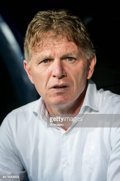 coach Alfons Fons Groenendijk of ADO Den Haag during the Dutch Eredivisie match between sc Heerenveen and ADO Den Haag at Abe Lenstra Stadium on...