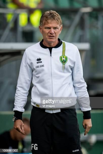 coach Alfons Fons Groenendijk of ADO Den Haag during the Preseason Friendly match between ADO Den Haag and Panathinaikos at the Cars Jeans Stadium on...