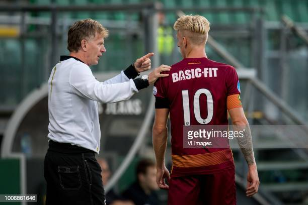 coach Alfons Fons Groenendijk of ADO Den Haag Lex Immers of ADO Den Haag during the Preseason Friendly match between ADO Den Haag and Panathinaikos...