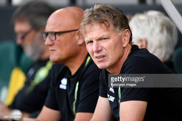 coach Alfons Groenendijk of ADO Den Haag during the Club Friendly match between ADO Den Haag v Panathinaikos at the Cars Jeans Stadium on July 28...