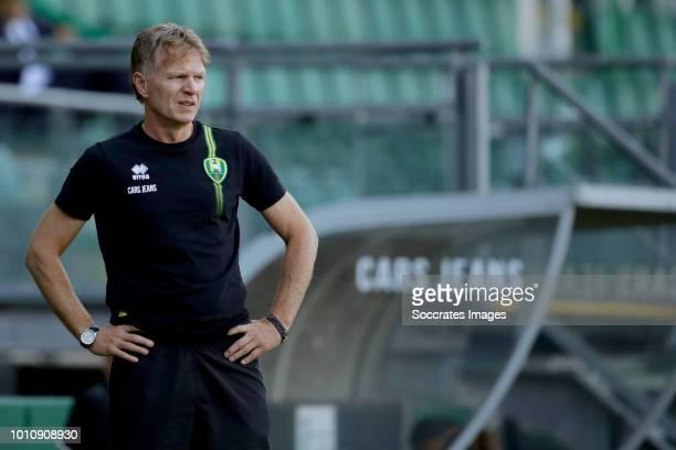 coach Alfons Groenendijk of ADO Den Haag during the Club Friendly match between ADO Den Haag v Aris Saloniki at the Cars Jeans Stadium on August 3...