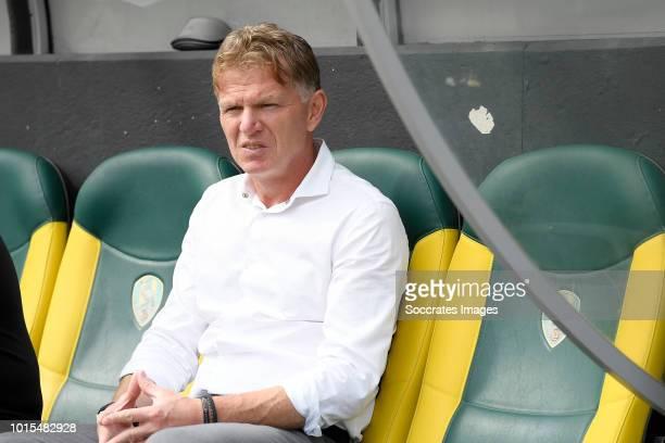 coach Alfons Groenendijk of ADO Den Haag during the Dutch Eredivisie match between ADO Den Haag v FC Emmen at the Cars Jeans Stadium on August 12...
