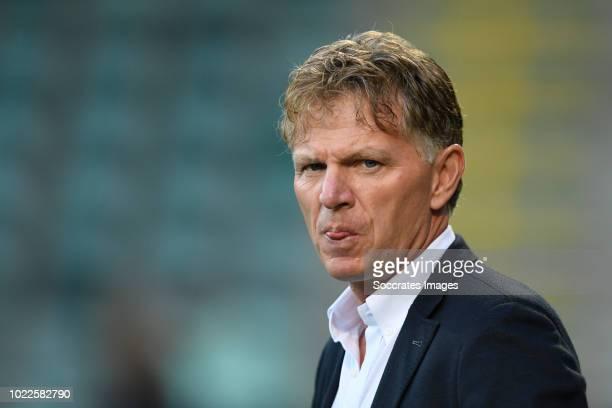 coach Alfons Groenendijk of ADO Den Haag during the Dutch Eredivisie match between ADO Den Haag v Fortuna Sittard at the Cars Jeans Stadium on August...
