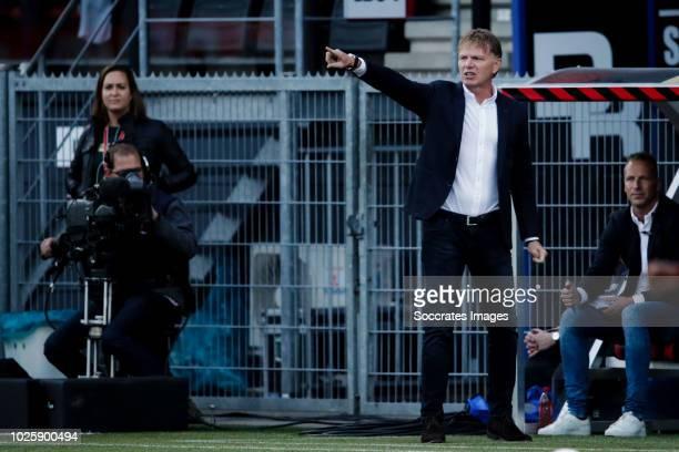 Coach Alfons Groenendijk of ADO Den Haag during the Dutch Eredivisie match between Excelsior v ADO Den Haag at the Van Donge De Roo Stadium on...