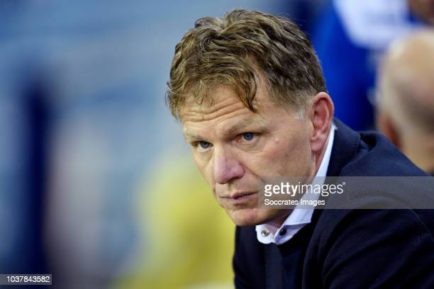 coach Alfons Groenendijk of ADO Den Haag during the Dutch Eredivisie match between Vitesse v ADO Den Haag at the GelreDome on September 22 2018 in...