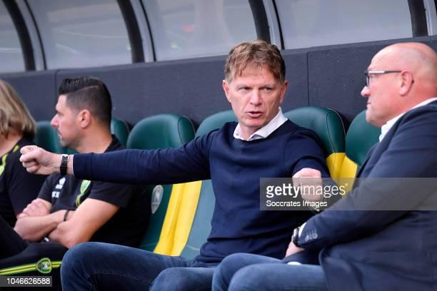 coach Alfons Groenendijk of ADO Den Haag during the Dutch Eredivisie match between ADO Den Haag v FC Groningen at the Cars Jeans Stadium on October 6...