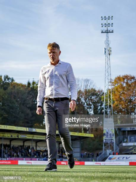 coach Alfons Groenendijk of ADO Den Haag during the Dutch Eredivisie match between VVVvVenlo ADO Den Haag at the Seacon Stadium De Koel on October 21...