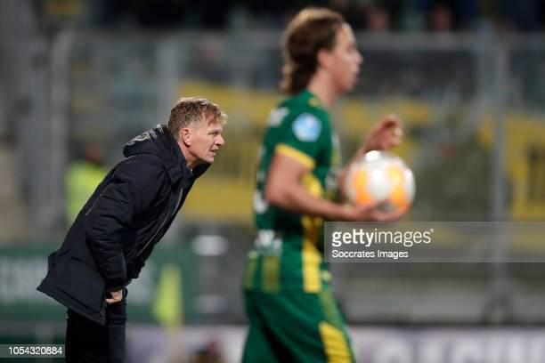coach Alfons Groenendijk of ADO Den Haag during the Dutch Eredivisie match between ADO Den Haag v NAC Breda at the Cars Jeans Stadium on October 27...
