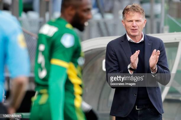 coach Alfons Groenendijk of ADO Den Haag during the Dutch Eredivisie match between ADO Den Haag v AZ Alkmaar at the Cars Jeans Stadium on November 11...