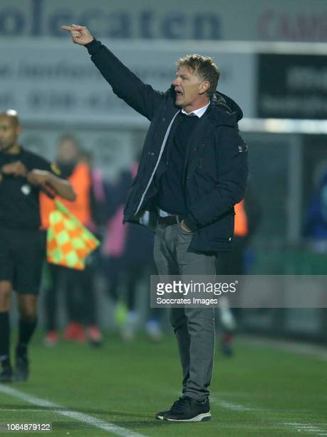 coach Alfons Groenendijk of ADO Den Haag during the Dutch Eredivisie match between PEC Zwolle v ADO Den Haag at the MAC3PARK Stadium on November 24...