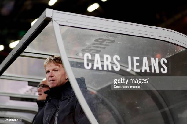 coach Alfons Groenendijk of ADO Den Haag during the Dutch Eredivisie match between ADO Den Haag v De Graafschap at the Cars Jeans Stadium on December...