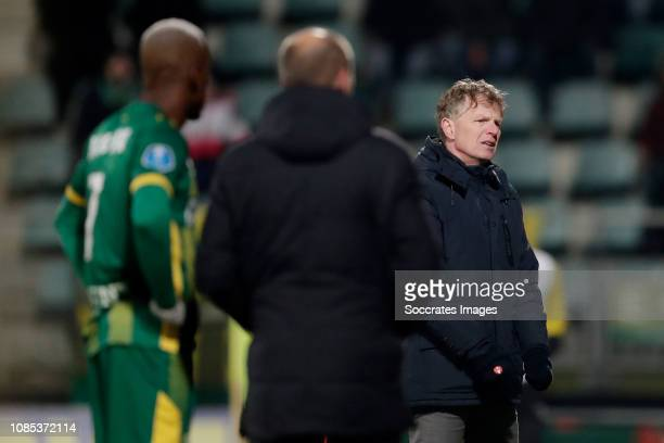 coach Alfons Groenendijk of ADO Den Haag during the Dutch Eredivisie match between ADO Den Haag v VVVVenlo at the Cars Jeans Stadium on January 19...
