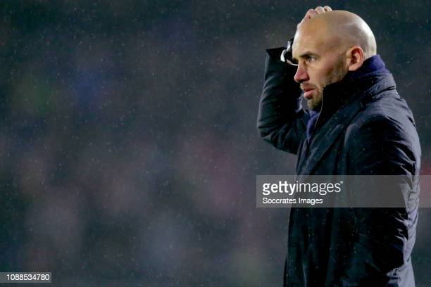 coach Alfons Groenendijk of ADO Den Haag during the Dutch Eredivisie match between NAC Breda v ADO Den Haag at the Rat Verlegh Stadium on January 25...