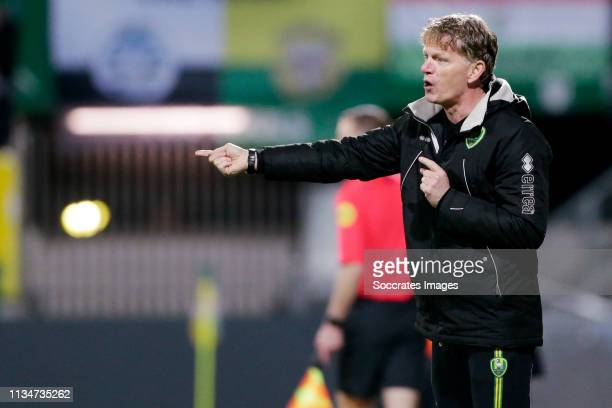 coach Alfons Groenendijk of ADO Den Haag during the Dutch Eredivisie match between Fortuna Sittard v ADO Den Haag at the Fortuna Sittard Stadium on...