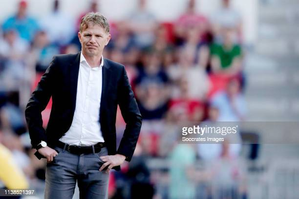 coach Alfons Groenendijk of ADO Den Haag during the Dutch Eredivisie match between PSV v ADO Den Haag at the Philips Stadium on April 21 2019 in...