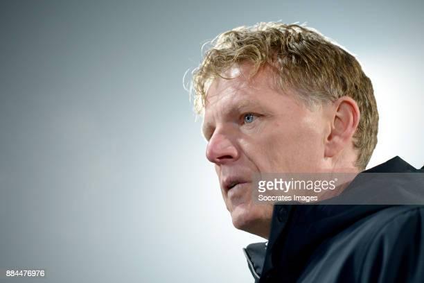 coach Alfons Groenendijk of ADO Den Haag during the Dutch Eredivisie match between ADO Den Haag v FC Groningen at the Cars Jeans Stadium on December...