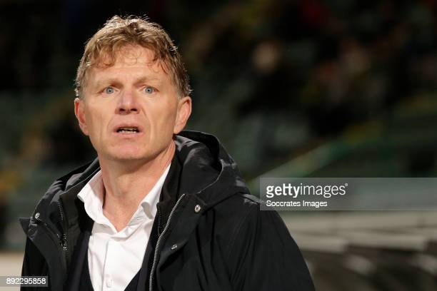 coach Alfons Groenendijk of ADO Den Haag during the Dutch Eredivisie match between ADO Den Haag v Roda JC at the Cars Jeans Stadium on December 13...