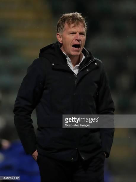 coach Alfons Groenendijk of ADO Den Haag during the Dutch Eredivisie match between ADO Den Haag v VVVVenlo at the Cars Jeans Stadium on January 20...