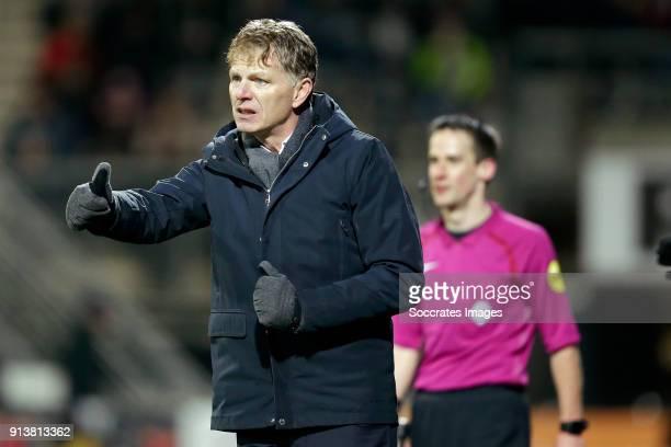 coach Alfons Groenendijk of ADO Den Haag during the Dutch Eredivisie match between Heracles Almelo v ADO Den Haag at the Polman Stadium on February 3...