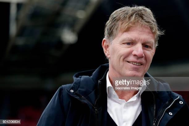 coach Alfons Groenendijk of ADO Den Haag during the Dutch Eredivisie match between Ajax v ADO Den Haag at the Johan Cruijff Arena on February 25 2018...