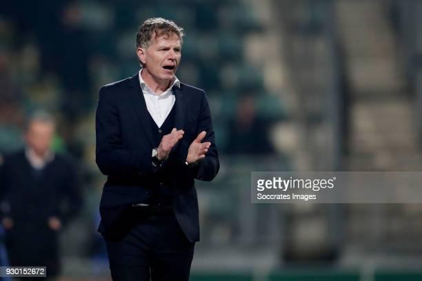 coach Alfons Groenendijk of ADO Den Haag during the Dutch Eredivisie match between ADO Den Haag v NAC Breda at the Cars Jeans Stadium on March 10...