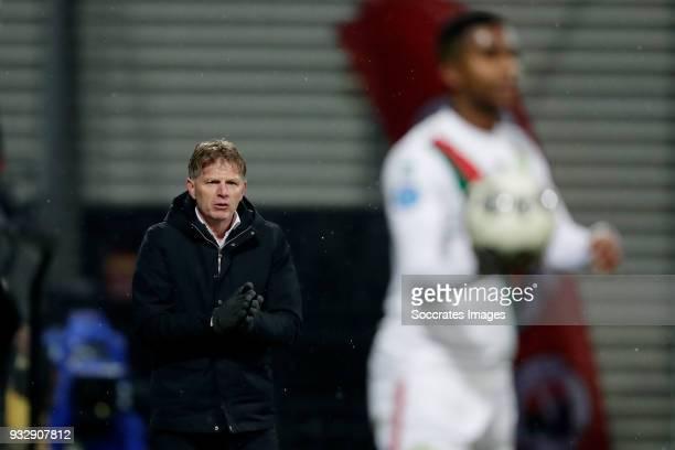 coach Alfons Groenendijk of ADO Den Haag during the Dutch Eredivisie match between Excelsior v ADO Den Haag at the Van Donge De Roo Stadium on March...