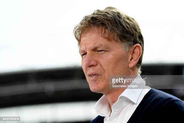 coach Alfons Groenendijk of ADO Den Haag during the Dutch Eredivisie match between FC Utrecht v ADO Den Haag at the Stadium Galgenwaard on April 8...