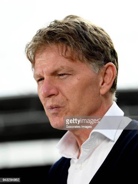 coach Alfons Groenendijk of ADO Den Haag during the Dutch Eredivisie match between FC Utrecht v ADO Den Haag at the Stadium Galgenwaard on April 8...
